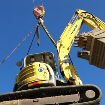 6 Tonne excavator craned